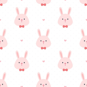 Милый кролик с галстуком-бабочкой