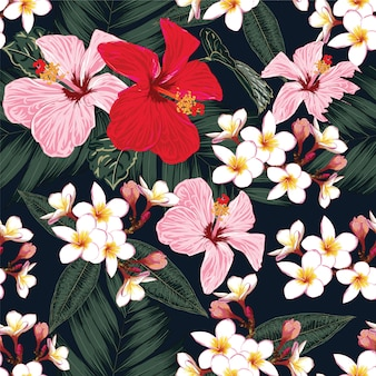 Бесшовный цветочный узор