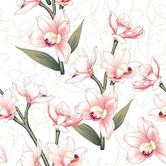 手描きのヴィンテージの花の背景