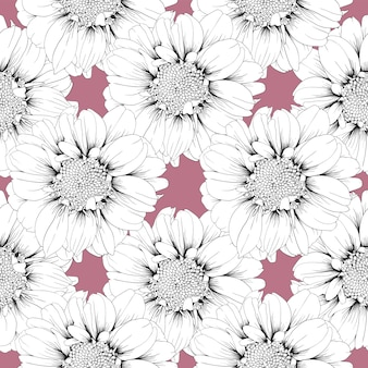 Бесшовный фон цинния цветы пастельных абстрактный фон.
