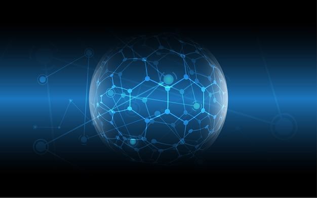 グローバルネットワーク接続抽象的な技術の背景