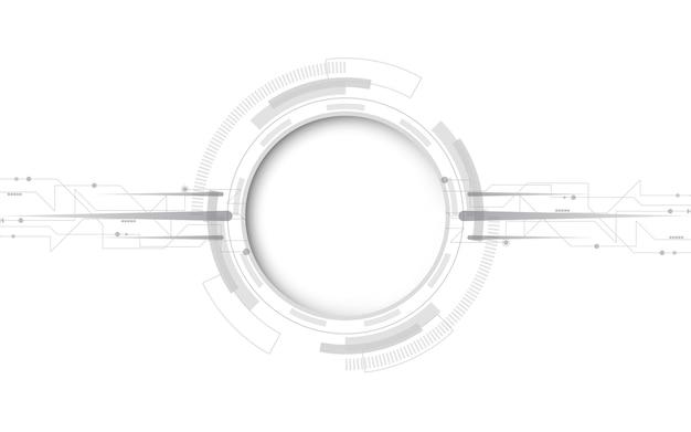 灰色の白抽象的な技術の背景