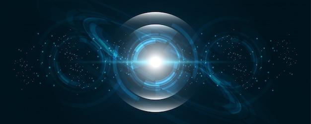 抽象的な技術の背景ハイテク通信の概念