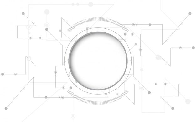 グレーホワイトの抽象的な技術の背景
