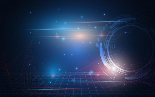 抽象的な技術の背景ハイテク通信コンセプトの革新