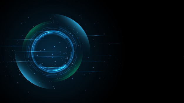 Абстрактный фон баннера технологии