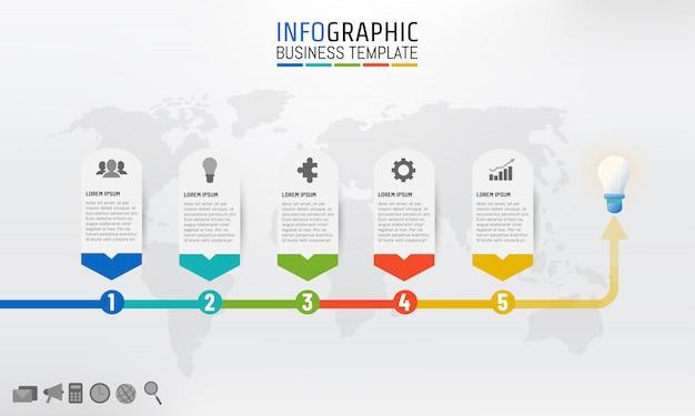 プレゼンテーションのためのインフォグラフィックなビジネステンプレート
