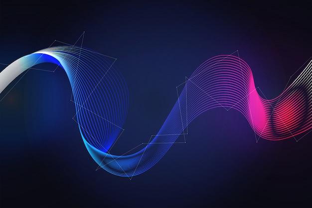 波状の未来的なデジタル技術の背景