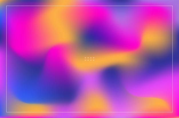 カラフルな抽象的な流体形状のグラデーションの背景
