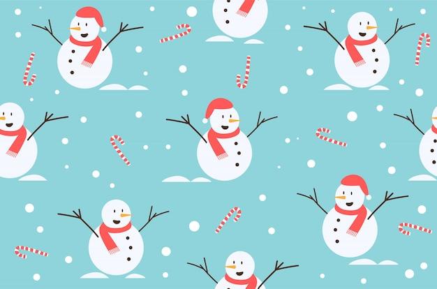 冬クリスマスのシームレスパターン