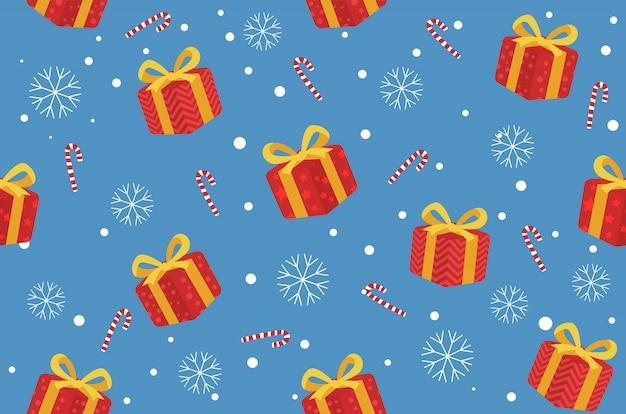 冬クリスマスのシームレスなパターン背景