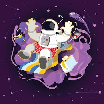 宇宙飛行士の休日