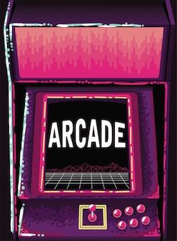 レトロなアーケードゲーム機の背景
