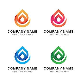 抽象的な水のロゴ