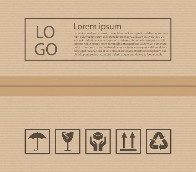 Картонная текстура и почтовые знаки