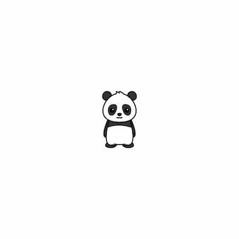 Милая панда мультфильм значок