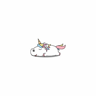 Ленивый единорог спящий мультфильм