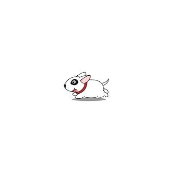 かわいいブルテリア子犬ランニング漫画