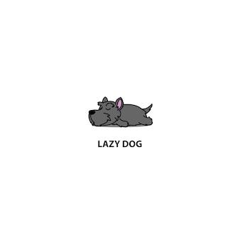 Ленивый шотландский терьер щенок спальный значок