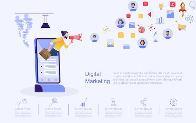 Бизнес-концепция для цифрового маркетинга.