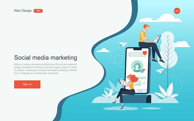 デジタルマーケティング、分析および開発のための概念。