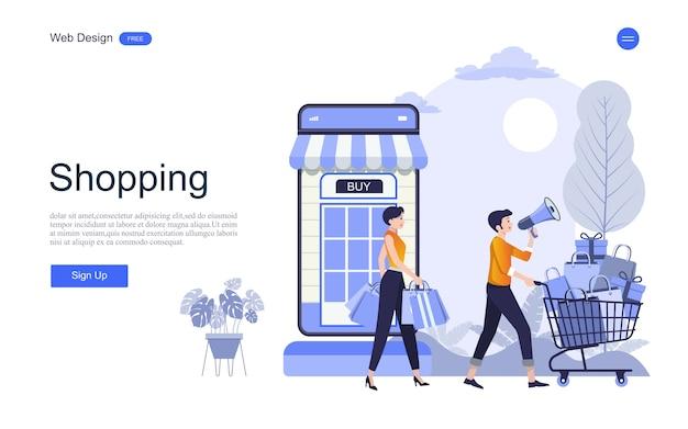 Веб-шаблон целевой страницы для интернет-магазинов и услуг