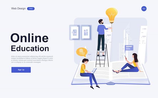 Шаблон сайта онлайн обучения, тренингов и курсов.