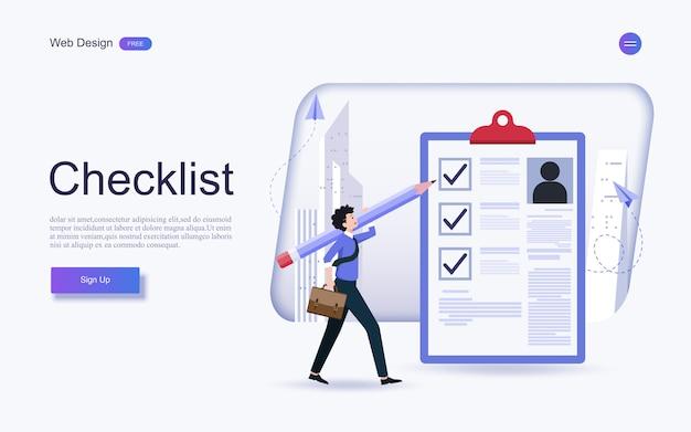 人材の概念、クリップボードの完成したチェックリストでの雇用。