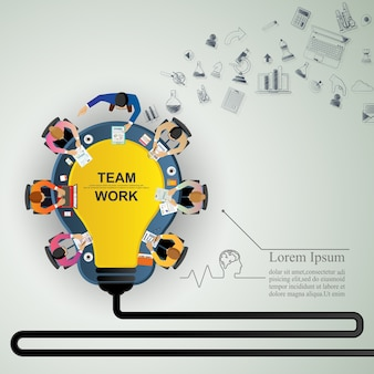 Идея концепции для совместной работы в бизнесе.