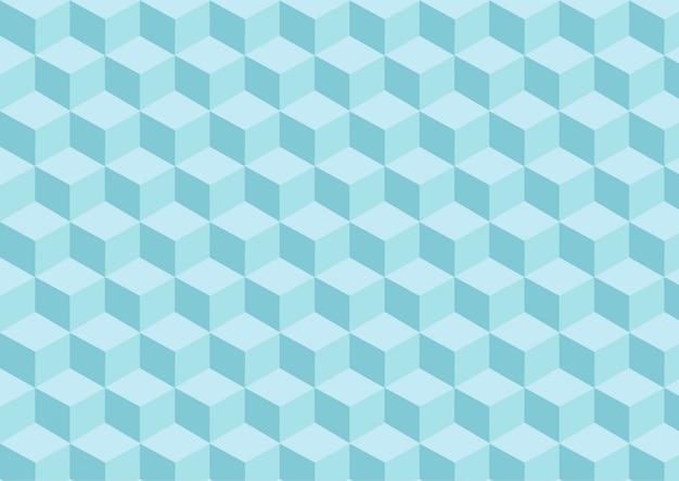 三次元の効果を持つライトブルーキューブパターン