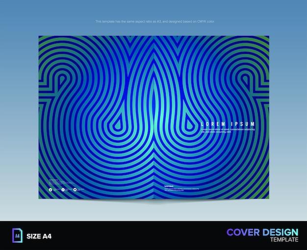 フリーフォームの迷路のカバーデザイン