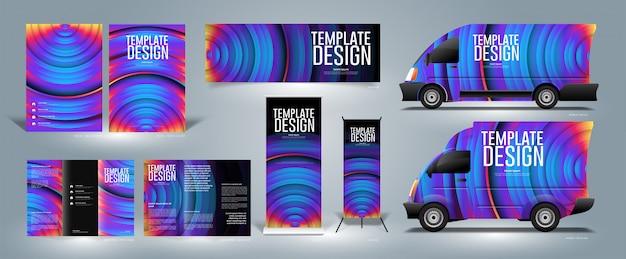 抽象的なテンプレートデザイン