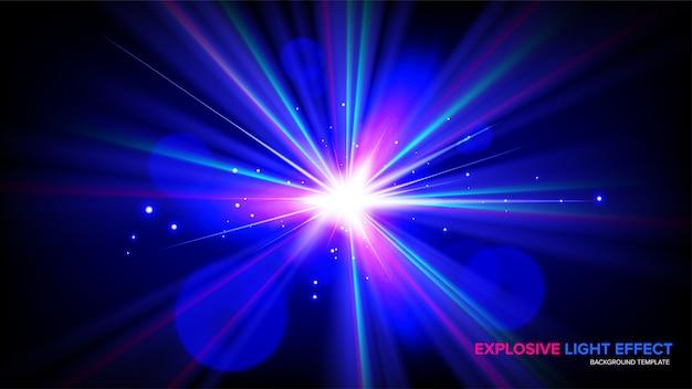 Абстрактный эффект взрыва в векторе