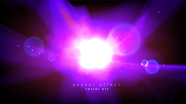 Абстрактный эффект квазара в векторе