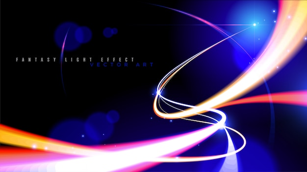 ベクトルで抽象的な光速