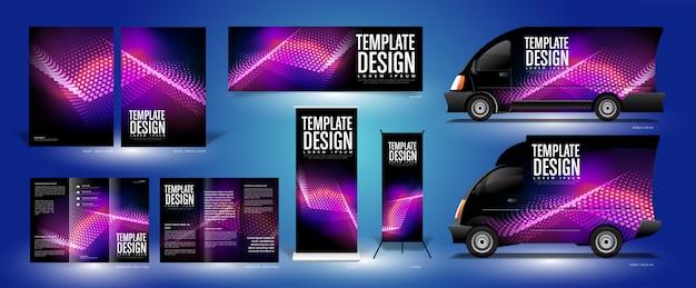 三角形粒子テンプレートデザイン