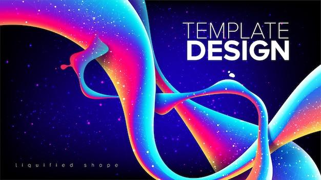 抽象的な液化形状テンプレートデザイン