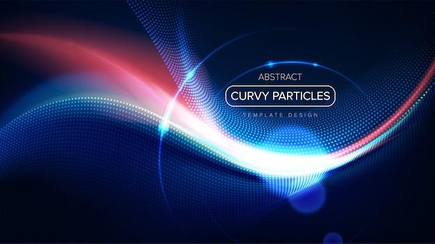 曲線粒子テンプレートデザイン