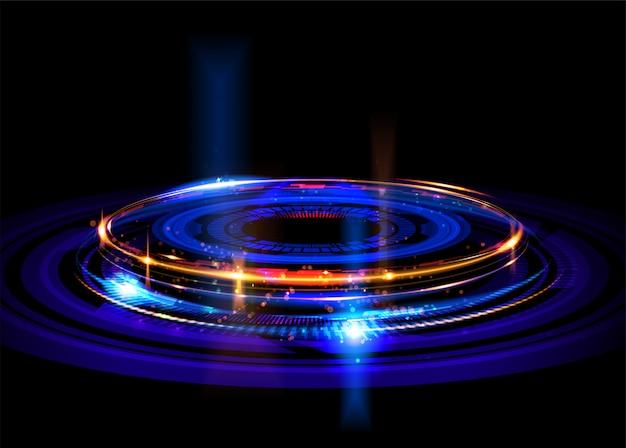バックグラウンドで抽象的な回転フレーム