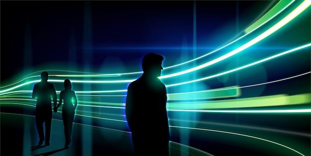 ベクトルの抽象的な光の道