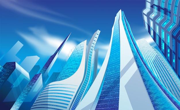 近代的な高層ビルの図