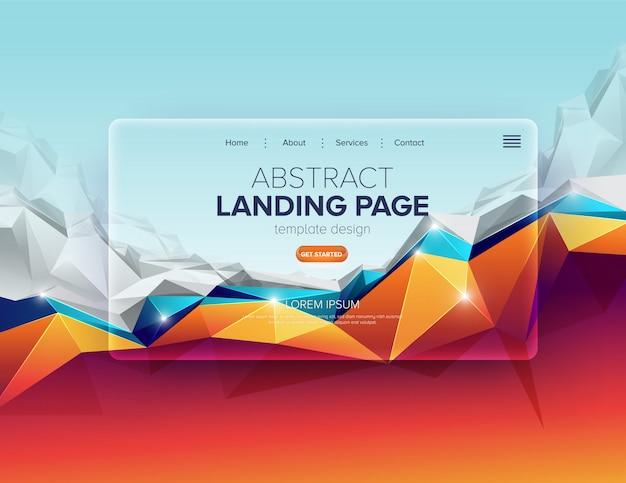 抽象ランディングページのデザイン