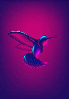 Абстрактная форма колибри
