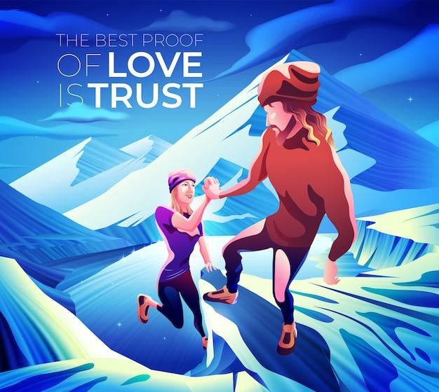 愛の最高の証明は信頼です