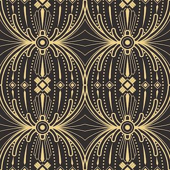 抽象的なアールデコシームレスモダンタイルパターン