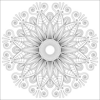 曼荼羅ベクトル花の花オリエンタルカラーブックのページ