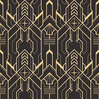 抽象的なアールデコシームレスなモダンなタイルパターン