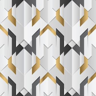 Геометрический декор полос белого и золотого элемента