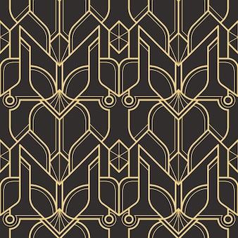 抽象的なアールデコシームレスパターン