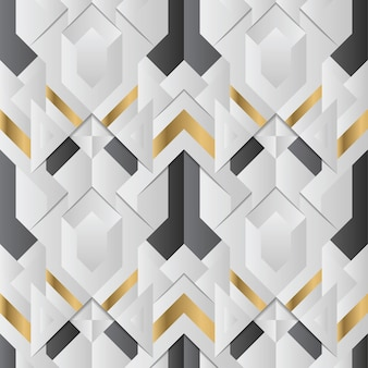 Абстракционизм современные геометрические плитки бесшовные модели золотой подкладке формы